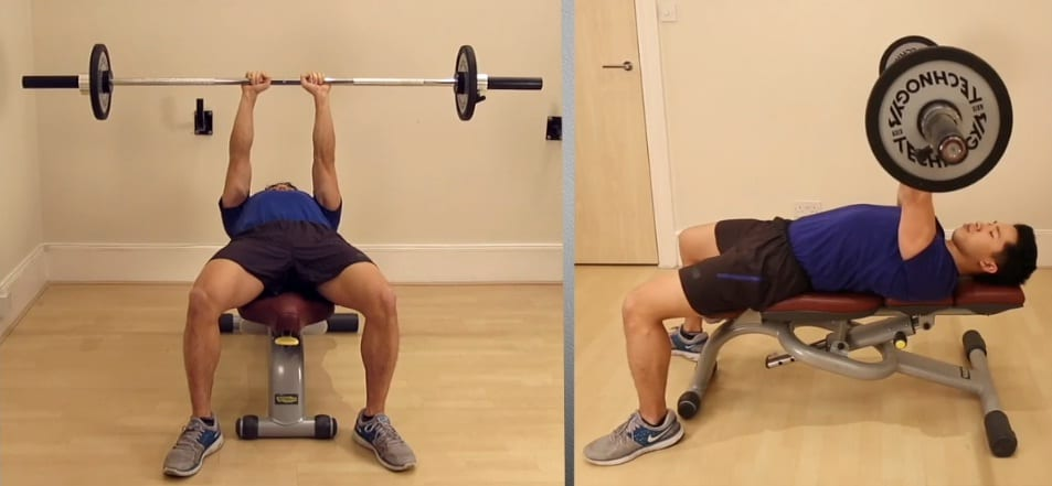 1a - Close Grip Barbell Bench Press