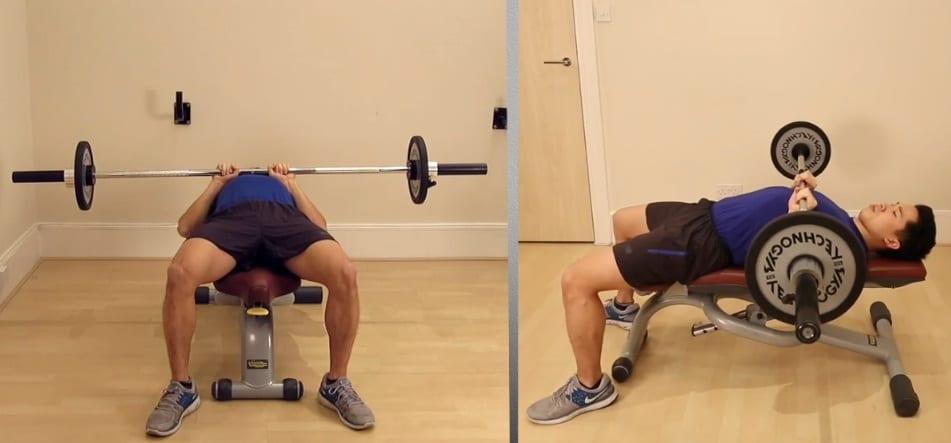 1b - Close Grip Barbell Bench Press
