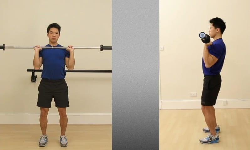 2a - Standing Barbell Shoulder Press