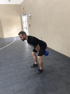 Kettle Bell Swing: Step 1