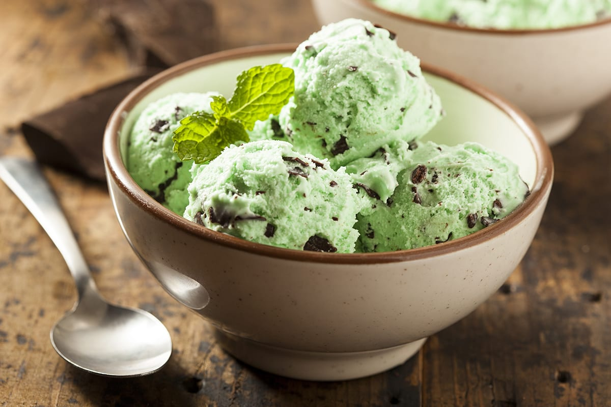 St Patrick's Day Desserts - Lucky Green Ice Cream