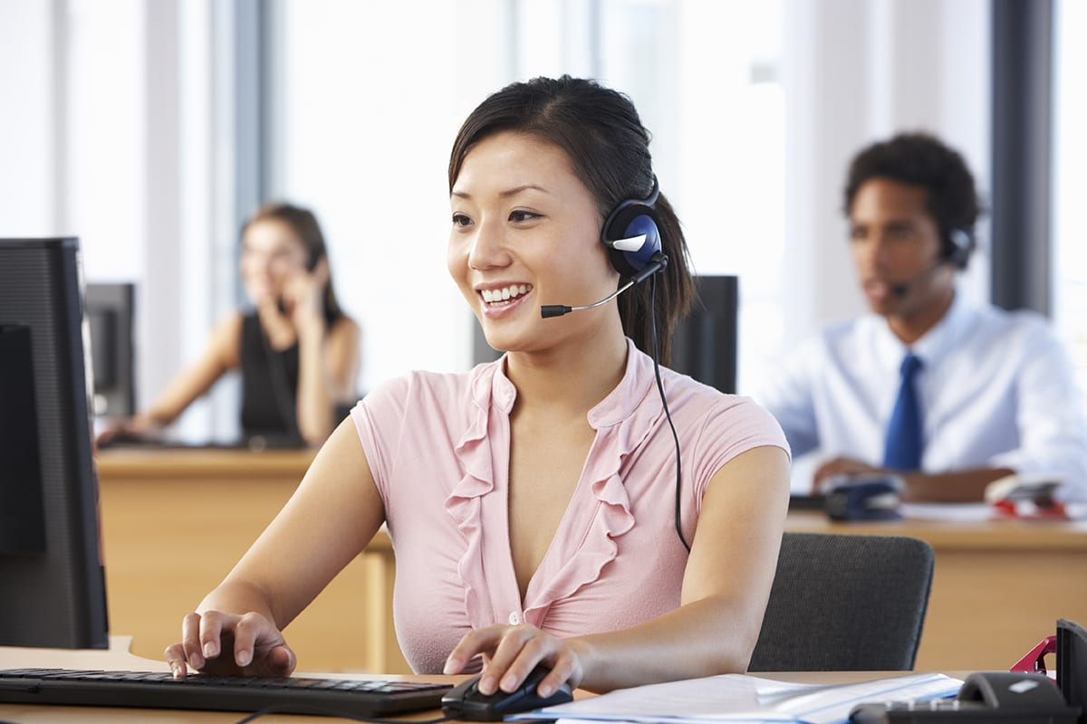 Call Center Providing Customer Service