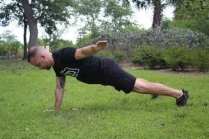 High Plank Lateral Reach 2