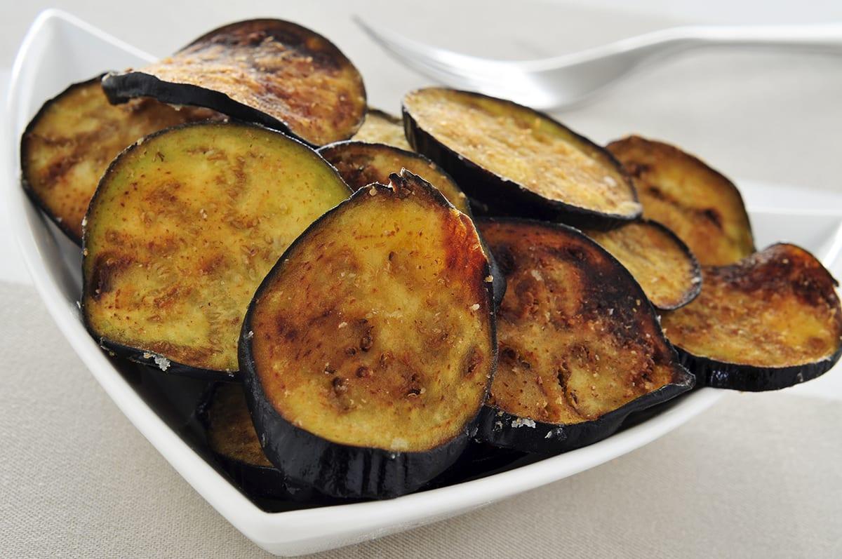 Parmesan Eggplant Chips