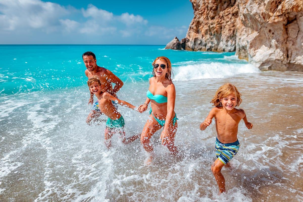 Family at a Hawaiian Beach
