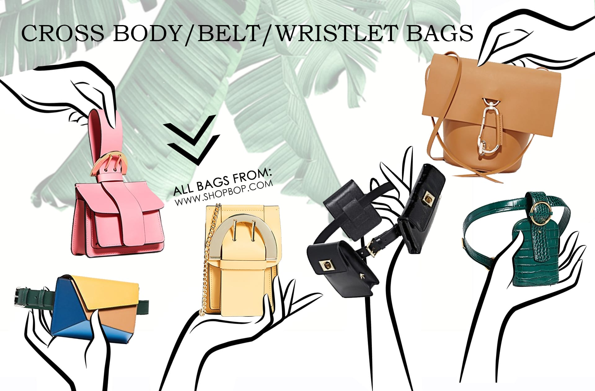 Crossbody, Belt, and Wristlet Bags