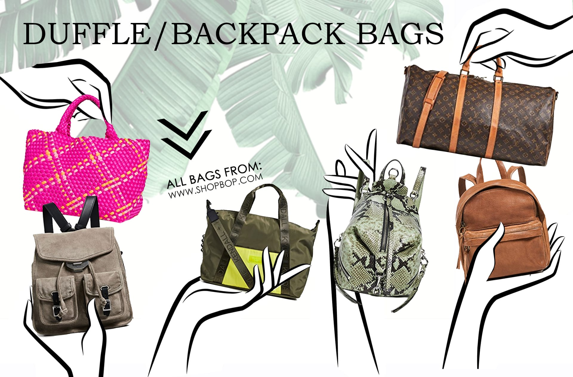 Travel Bags (Duffel & Backback) types of purses