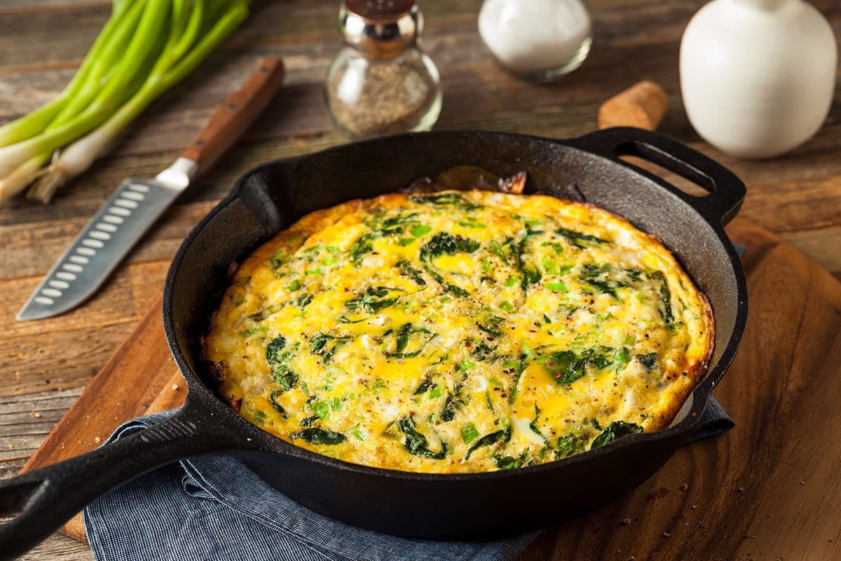 Keto Breakfast Pizza Skillet (Frittata)