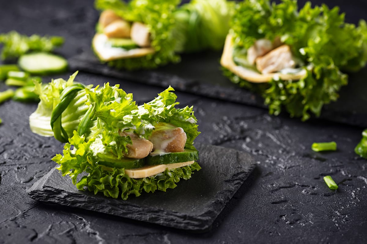 Keto Chicken Lettuce Wrap