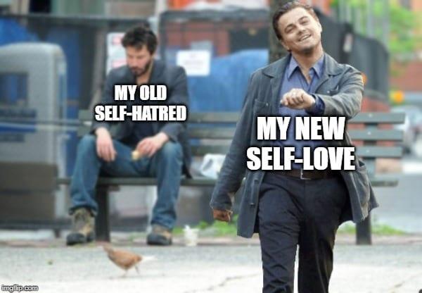 Strutting Leo Self-Love Meme