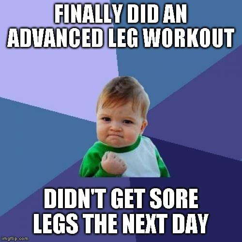 Success Kid Leg Workout Meme