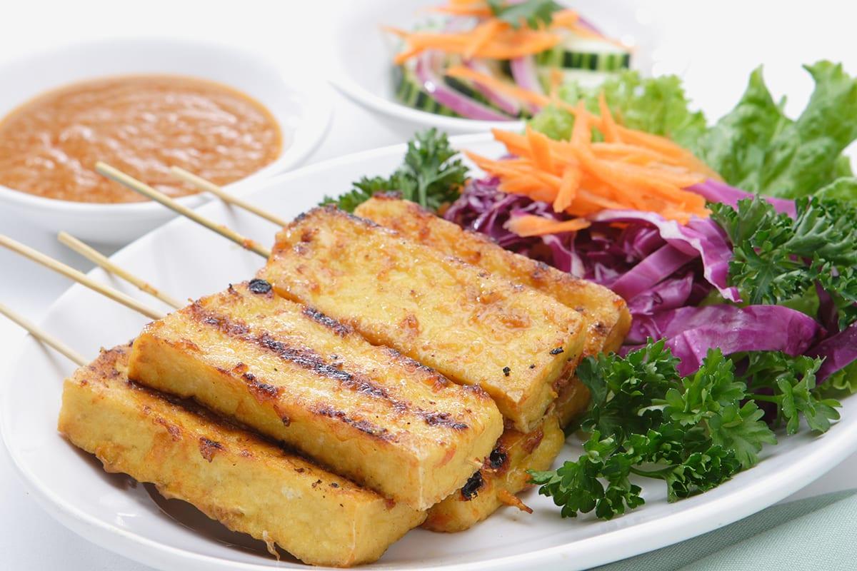 Tofu Satay Tempeh