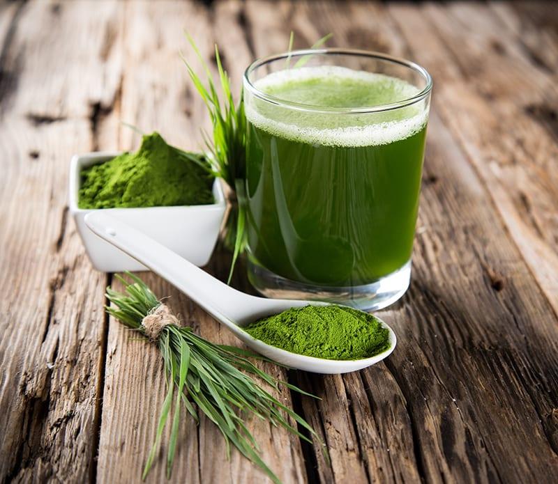 Green Juice Powder With Drink