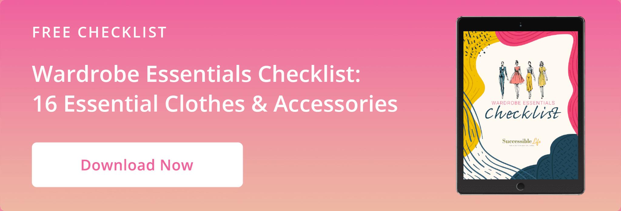 Article CTA Graphic - Wardrobe Essentials Checklist