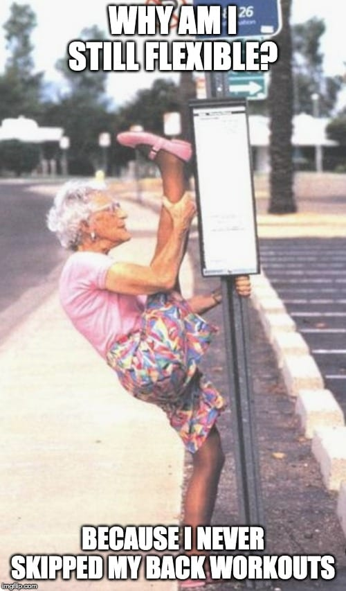 Flexible Grandma Meme