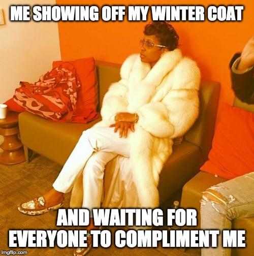 Fut Coat Lady Meme