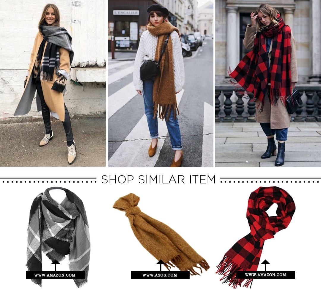 Winter Wardrobe-Oversized Scarf