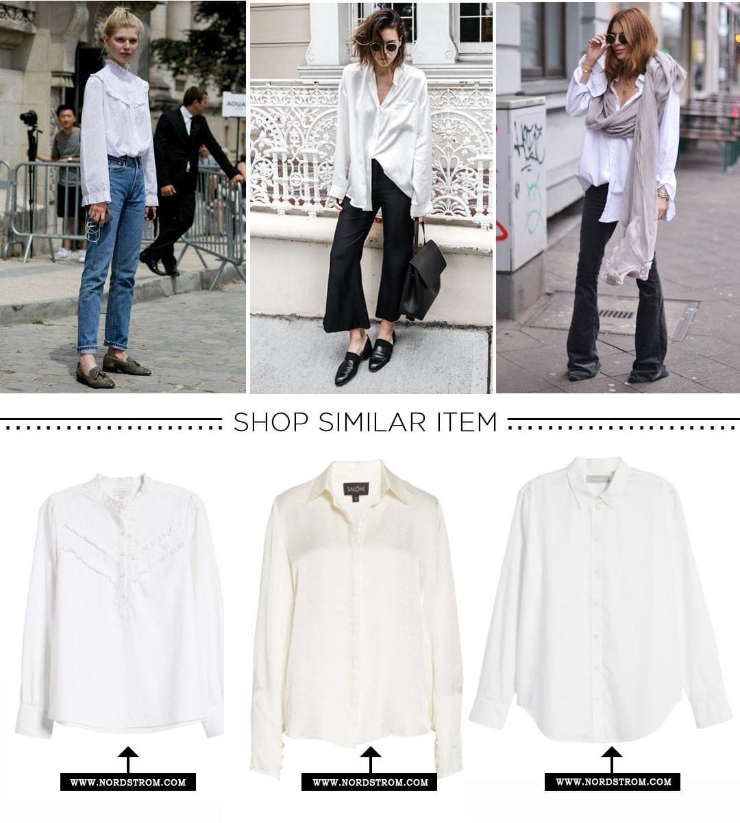 Winter Wardrobe-White Blouse
