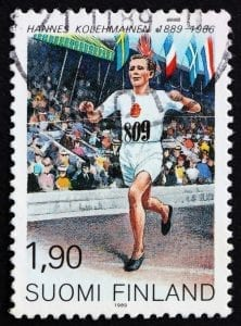 Postage stamp Finland 1989 Hannes Kolehmainen, runner
