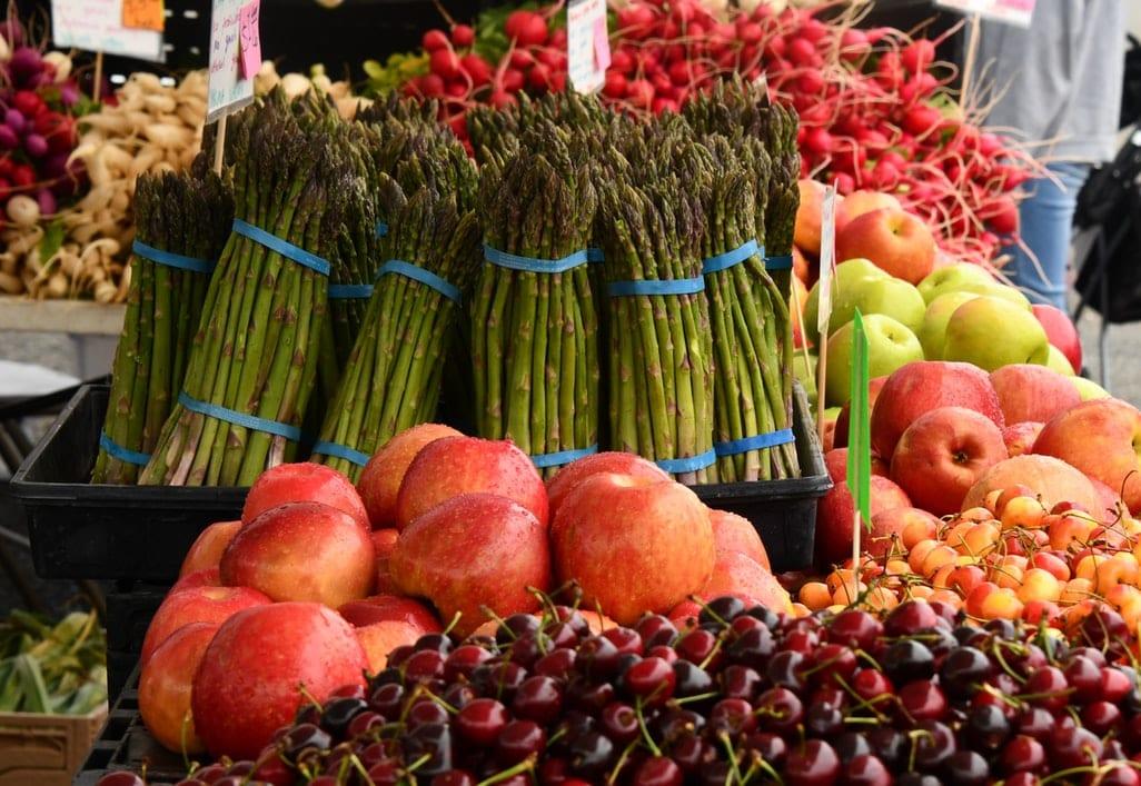 Green Asparagus at the Market