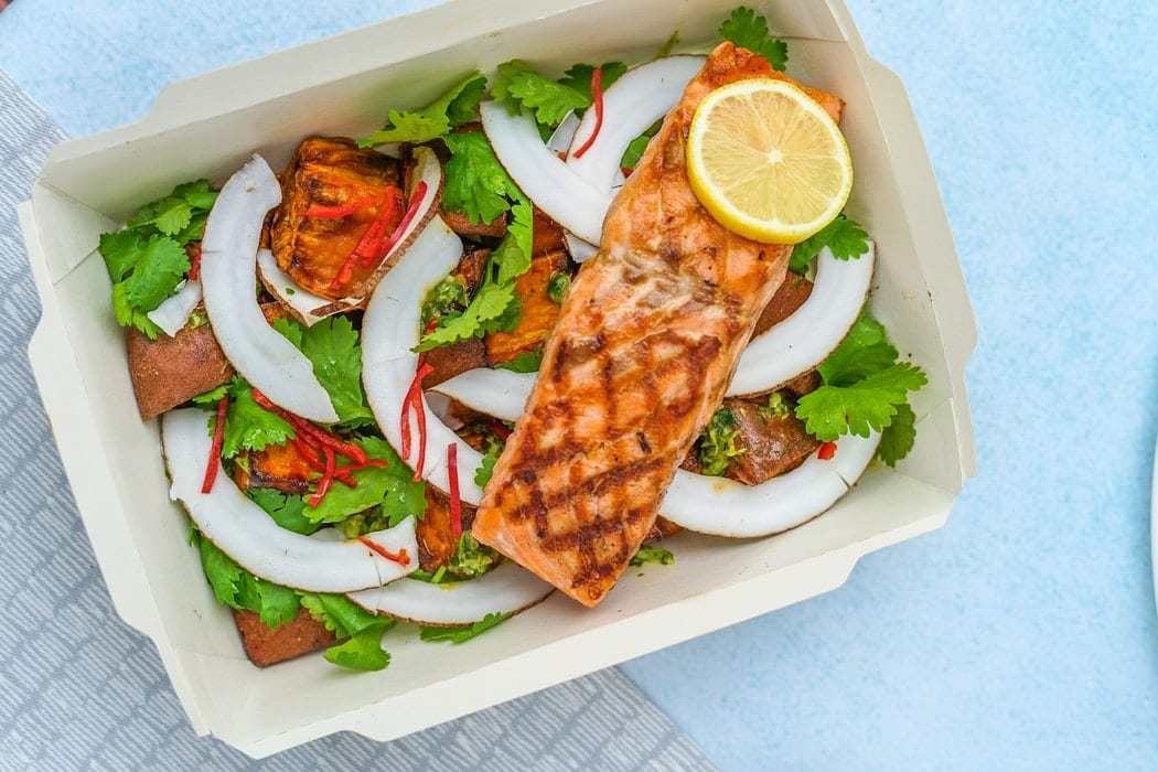 Grilled Salmon and Vegetable Salad