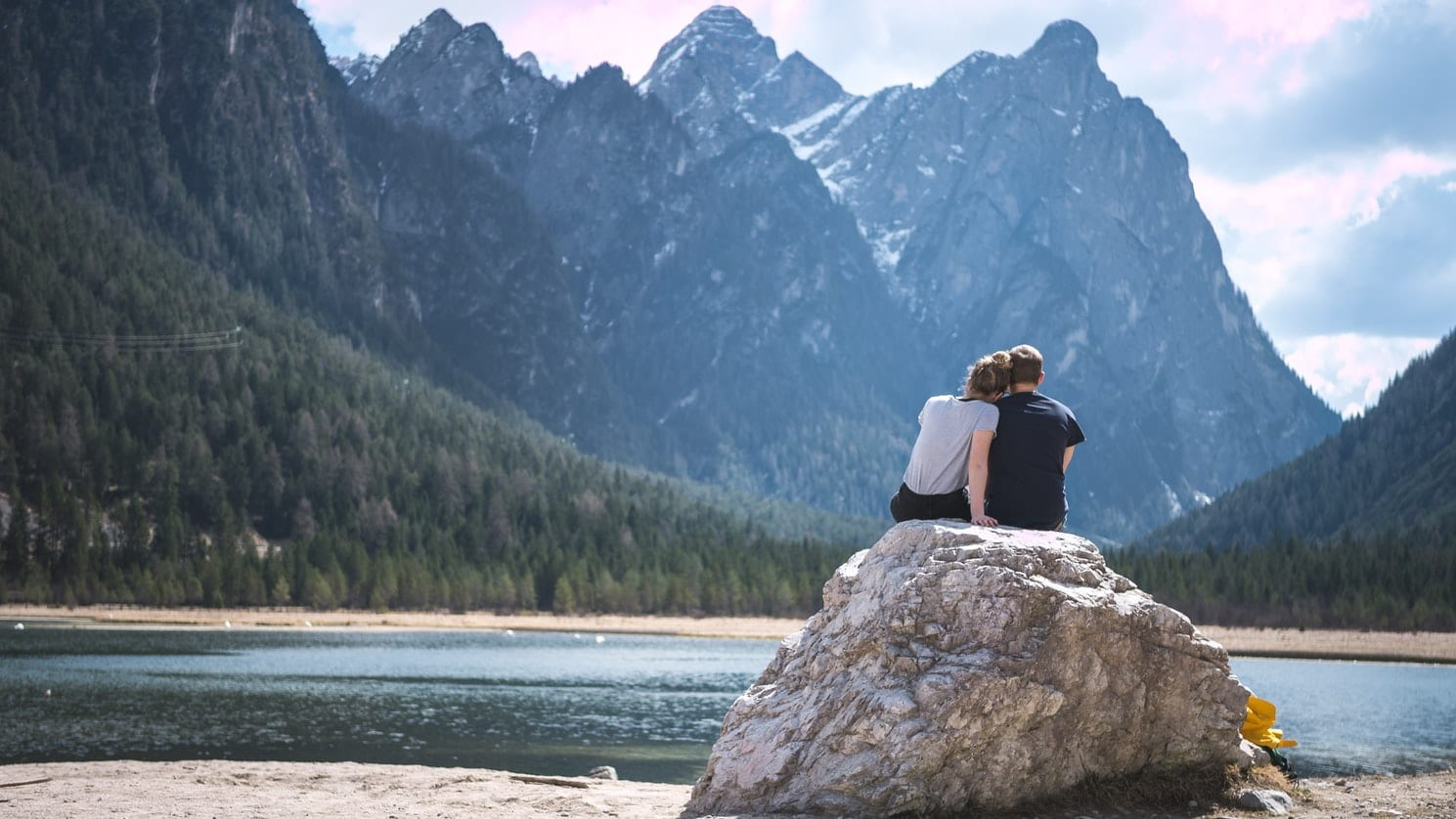 Couple Contemplating Nature