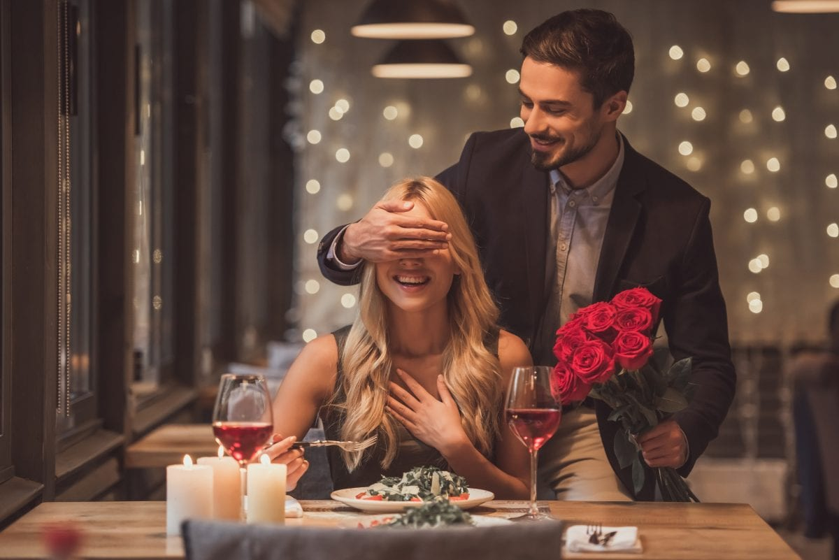 Man Surprising his Partner