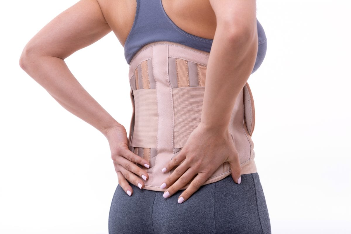 Woman Wearing Orthopedic Corset