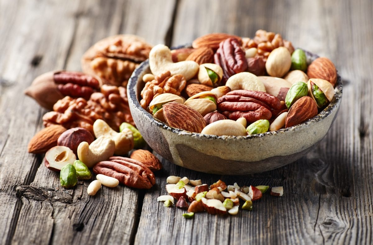 Walnuts Almonds and Pistachios