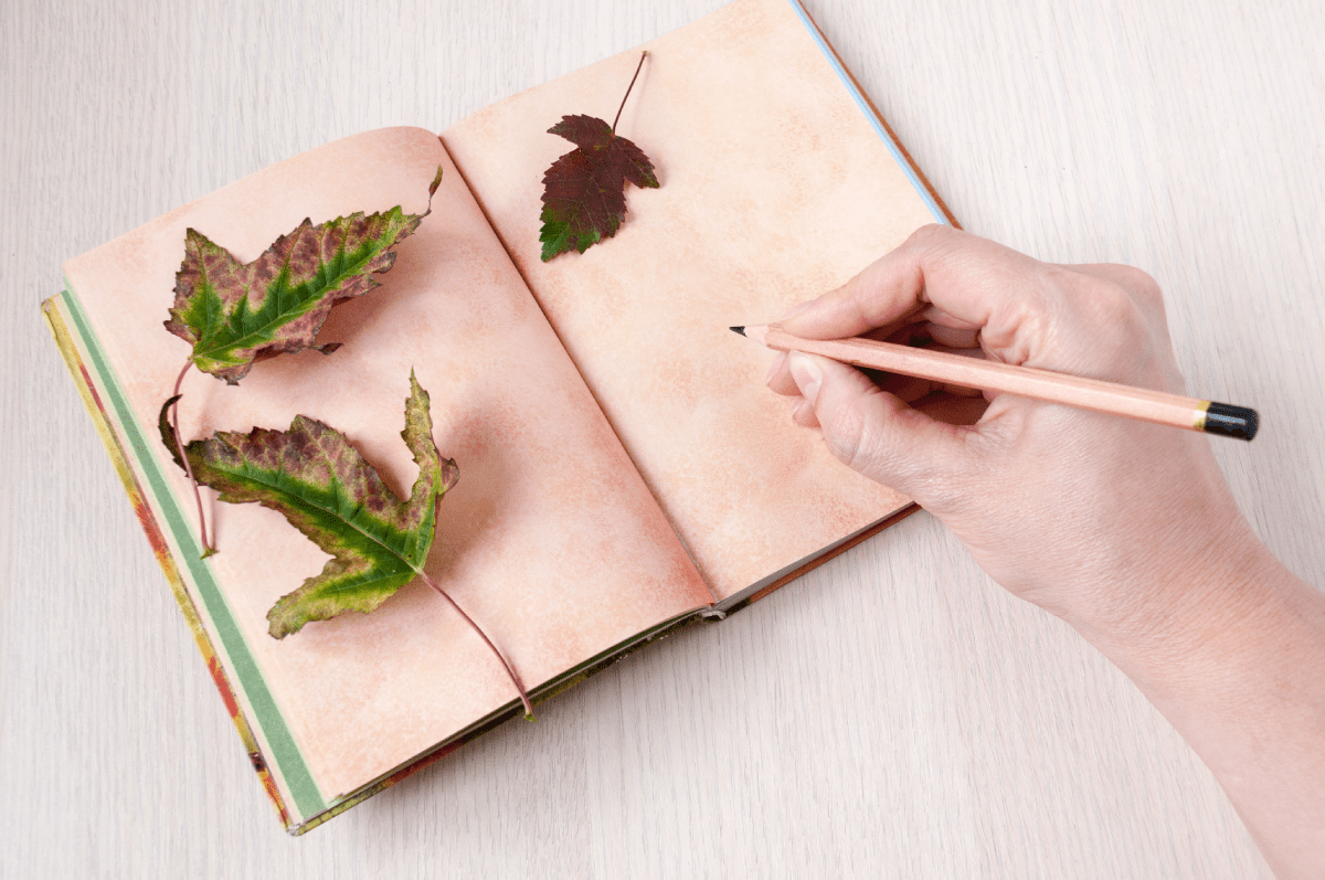 Nature Journal with Leaves