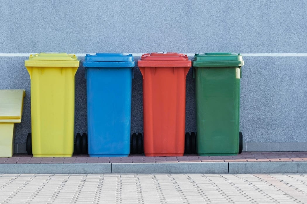 Recycling Bins in Different Colors
