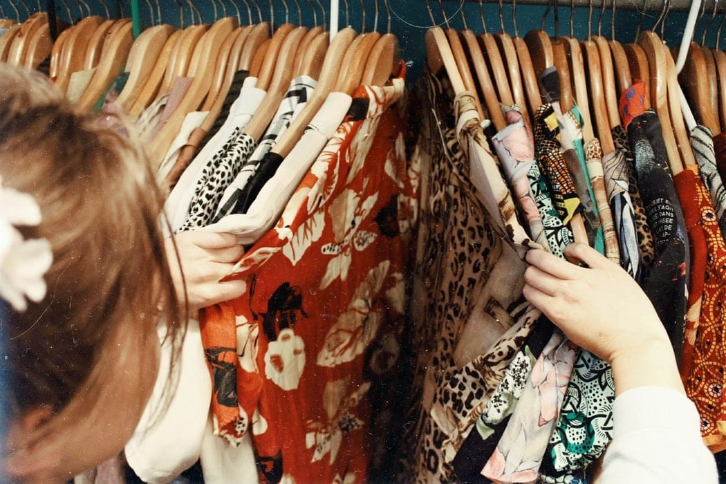 Shopping at Thrift Store