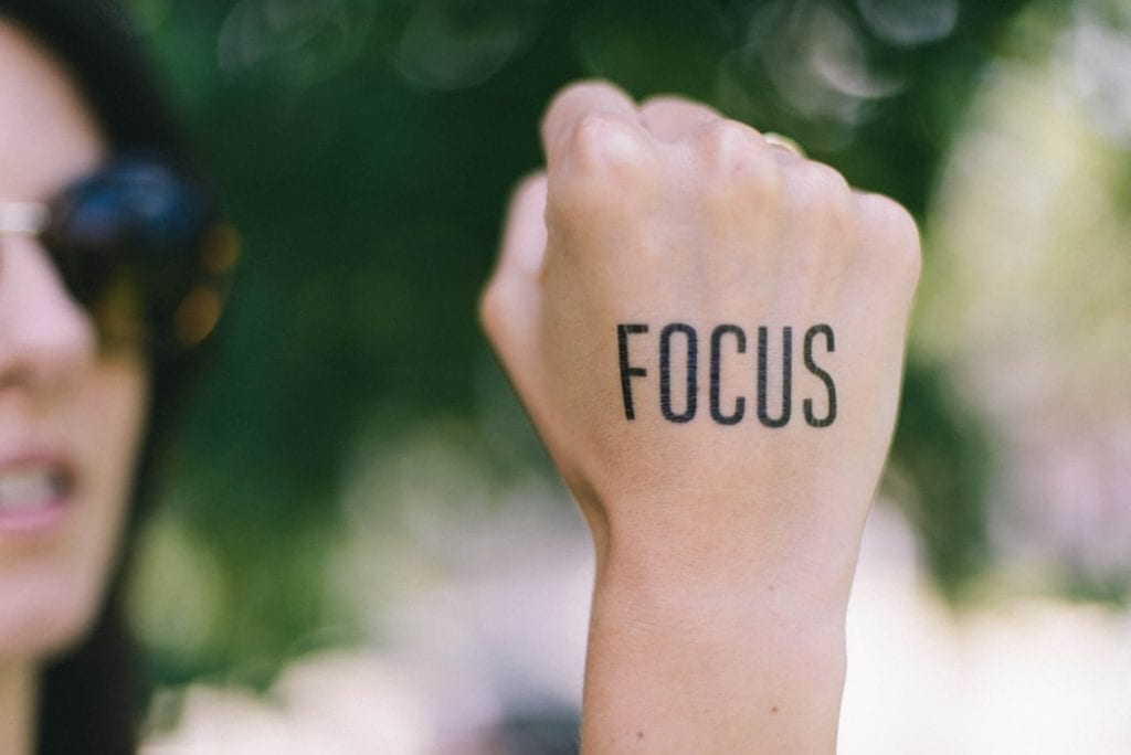 Focus Quote on Woman's Hand