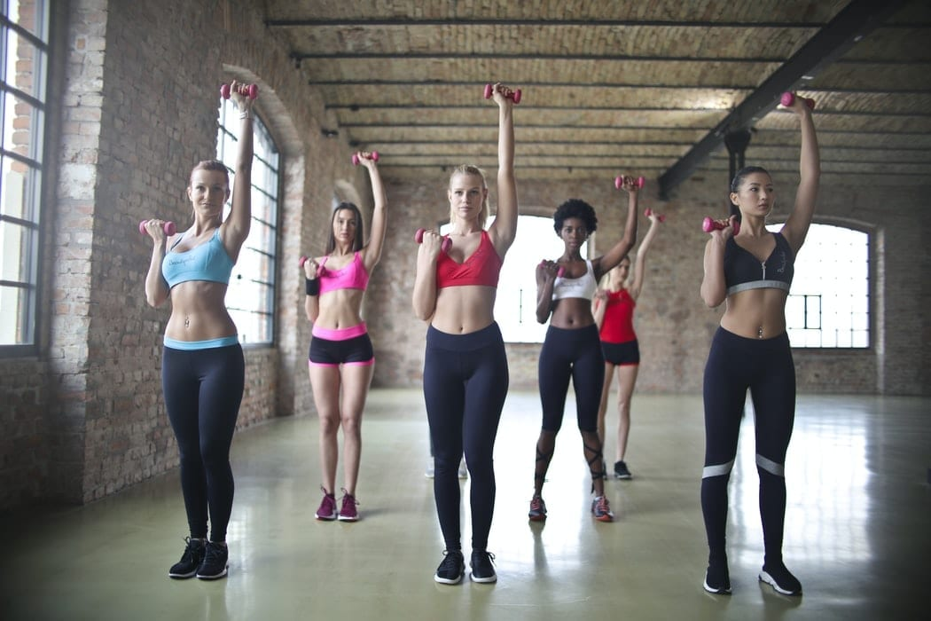 Women in a fitness group